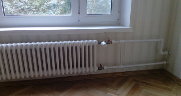 Подключение радиатора с внесёнными изменениями.