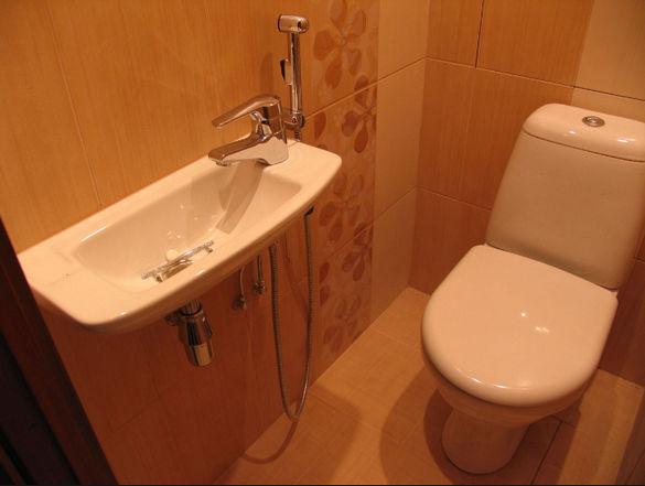 Гигиенический душ совмещенный с раковиной.