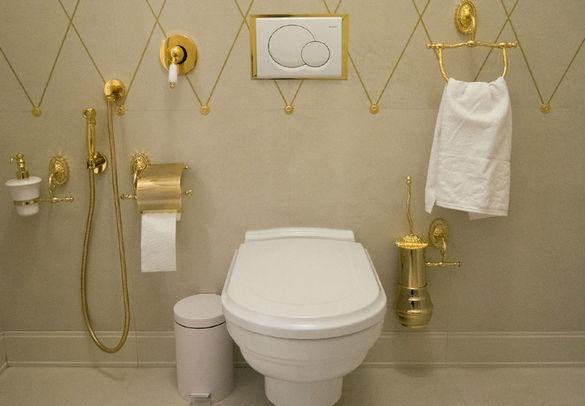 Туалет с гигиеническим душем.