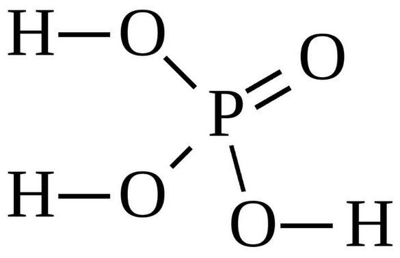 Кислота ортофосфорная, входящая в состав кока-колы.