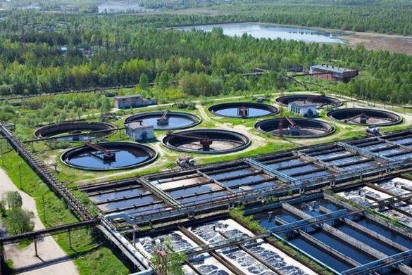 Городские водоочистные сооружения.