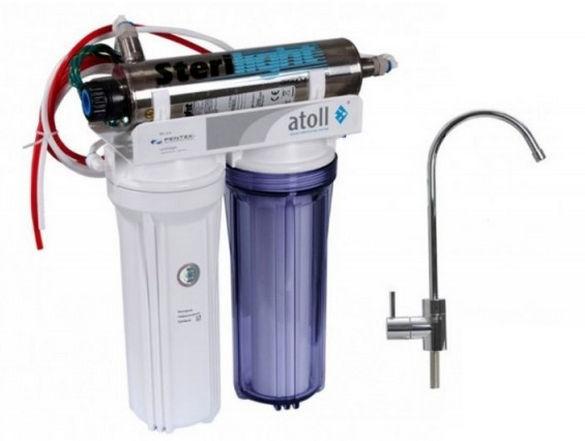 Фильтр для воды с УФ-обеззараживателем.
