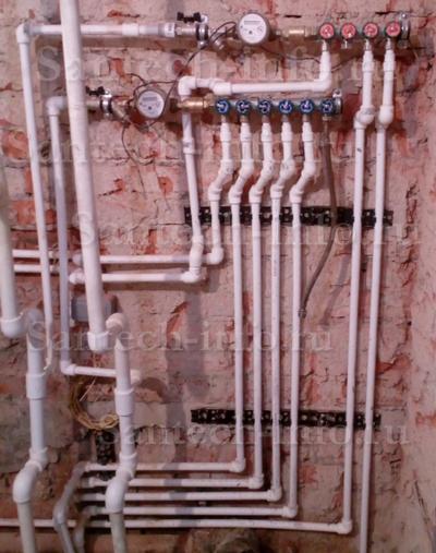 Коллекторная разводка водопровода.