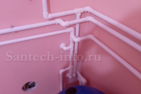 Тройниковая разводка трубопровода.