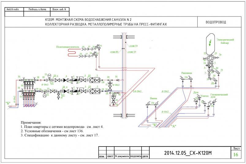 Коллекторная схема водопровода.