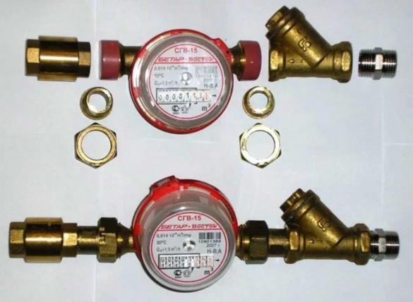 Комплект для установки счетчиков воды