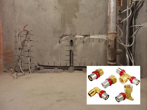 Металлопластиковая труба в стене