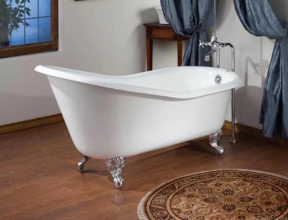 Современная чугунная ванна.