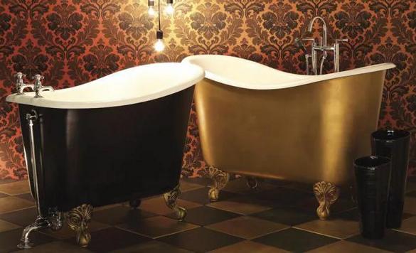Дизайнерские чугунные ванны.